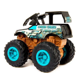 Hit an obstacle and watch your Cyber Crush Monster Truck blow apart!