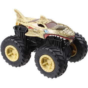 Leopard Shark Monster Truck features creature styling with a brown leopard-inspired deco.