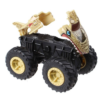 Hit an obstacle and watch your Leopard Shark Monster Truck blow apart!