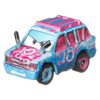 Cars Mini Racers Blind Spot has her signature blue and pink deco, as seen in Cars 3.