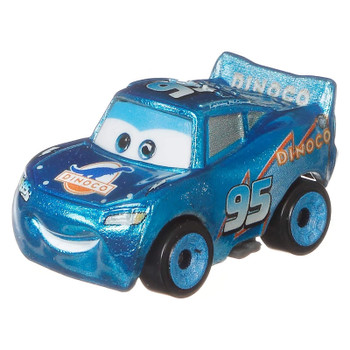 Cars Mini Racers Dinoco Lightning McQueen with a metallic finish.