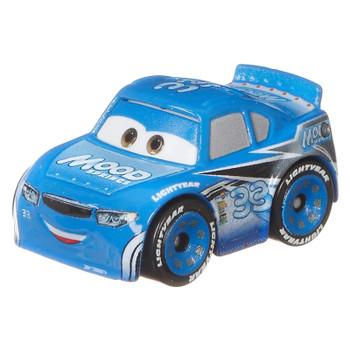 Cars Mini Racers Dud Throttleman with his signature blue and white Mood Springs deco.