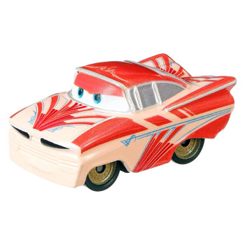 Cars Mini Racers Florida Ramone with a 2-tone pink Art Deco style paint job.