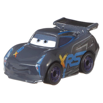 Cars Mini Racers Jackson Storm features an XRS (Xtreme Racing Series) deco.
