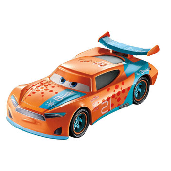 """Disney Pixar Cars 3: RYAN """"INSIDE"""" LANEY 1:55 scale die-Cast vehicle features authentic styling, big personality details and wheels that roll."""