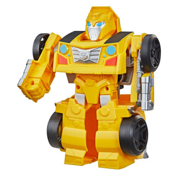 Little heroes can enjoy twice the fun with 2 modes of play, converting this Bumblebee action figure from sportscar to robot and back again.