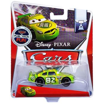Disney Pixar Cars: SHINY WAX No. 82 1:55 Scale Die-cast Vehicle in packaging.