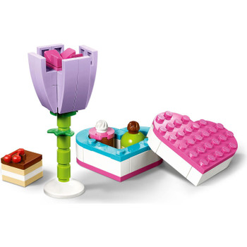 Build this cute heart-shaped box of chocolates and pretty purple tulip. Keep them for yourself or give to a friend to show them how special they are.
