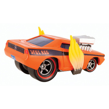 Snot Rod measures around 7 cm (2.75 inches) long and features 'flames' coming out of his exhaust pipes.