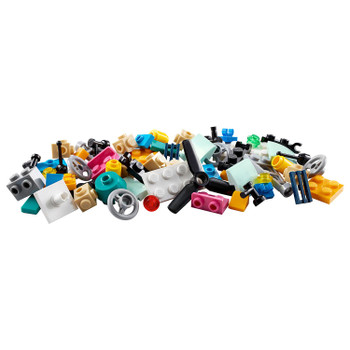 Let young fans build a helicopter, drone and other fun vehicles with this colorful set of LEGO bricks, building steps and inspirational images... and free build creations of their own!