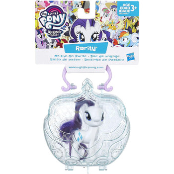 This set includes a 3-inch Rarity pony figure that fits inside the purse.