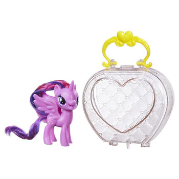 Inspired by the My Little Pony Friendship is Magic television series, this translucent on-the-go purse with handle matches Princess Twilight Sparkle pony's royal style.