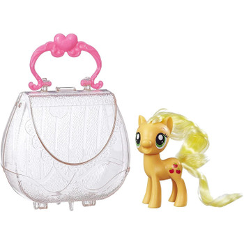 Inspired by the My Little Pony Friendship is Magic television series, this translucent On-the-Go Purse with handle matches Applejack pony's sweet style.