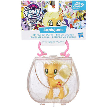 This set includes a 3-inch Applejack pony figure that fits inside the purse.