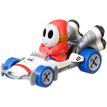 Popular Mario Kart character Shy Guy is molded into his B-Dasher kart.