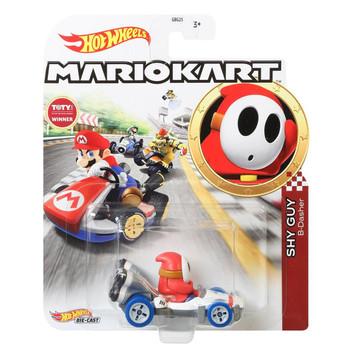 Hot Wheels Mario Kart SHY GUY (B-Dasher) 1:64 Scale Replica Die-Cast Vehicle in packaging.