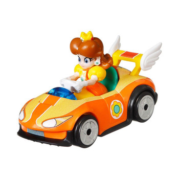 Popular Mario Kart character Princess Daisy is molded into her Wild Wing kart.