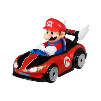 Iconic Mario Kart character Mario is molded into his Wild Wing kart.