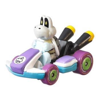 Popular Mario Kart adversary Dry Bones is molded into his Standard Kart.