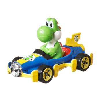 Popular Mario Kart character Yoshi is molded into his Mach 8 kart.