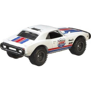 Approximately 1:64 scale, this 1967 Off Road Camaro model measures around 7.5 cm (3 inches) long.