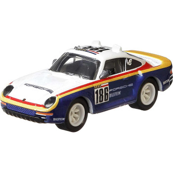 This Hot Wheels Porsche 959 pays homage to the No.186 Rothmans 959 that participated in the 1986 Paris-Dakar Rally.