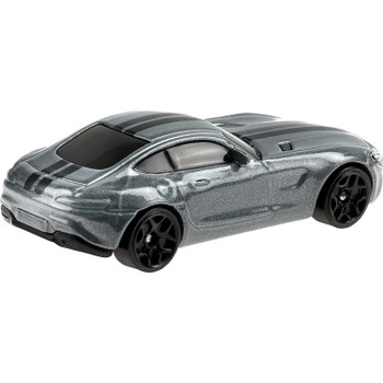 The 2015 Mercedes-AMG GT is approximately 1:64 scale and measures around 7 cm (2.75 inches) in length.