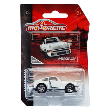 Majorette Vintage Collection PORSCHE 934 (White) 1:57 Scale Die-cast Vehicle in packaging.