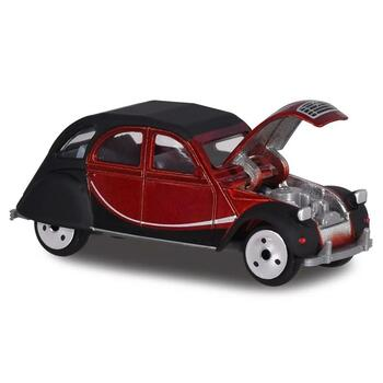 Authentically styled 1979 Citroen 2CV in a maroon & black 'Charleston' deco by Majorette.
