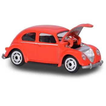 Authentically styled Volkswagen Beetle in bright red by Majorette.