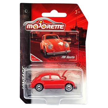 Majorette Vintage Collection VW BEETLE (Red) 1:64 Scale Die-cast Vehicle in packaging.