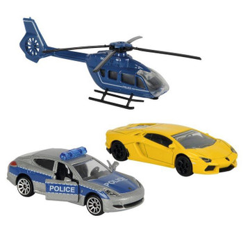 Majorette Gangster Chase (Europe) 1:64 Scale Die-cast Vehicle 3-Pack