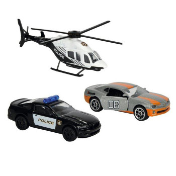 Majorette Gangster Chase (USA) 1:64 Scale Die-cast Vehicle 3-Pack