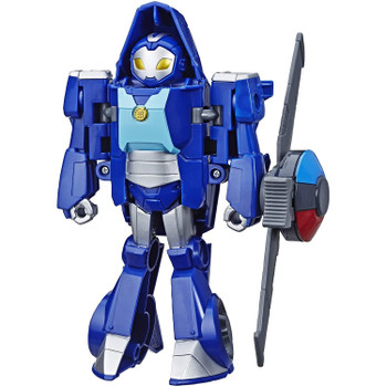 Little heroes can enjoy twice the fun with 2 modes of play, converting this Whirl the Flight-Bot action figure from a police helicopter to a robot and back again.