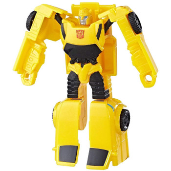 Experience the excitement of Transformers conversion play with this Transformers Authentics Autobot Bumblebee figure.