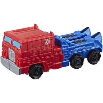 Transformers Authentics Optimus Prime changes from robot mode to truck mode and back in just 4 easy steps.