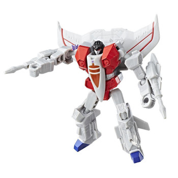 Experience the excitement of Transformers conversion play with this Transformers Authentics Starscream figure.