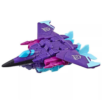 Transformers Cyberverse Slipstream changes from robot to jet mode in 7 steps.