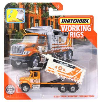 Matchbox Real Working Rigs - International Workstar 7500 Dump Truck in packaging.