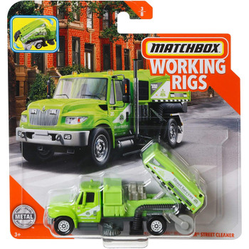 Matchbox Real Working Rigs - International Workstar Street Cleaner in packaging.