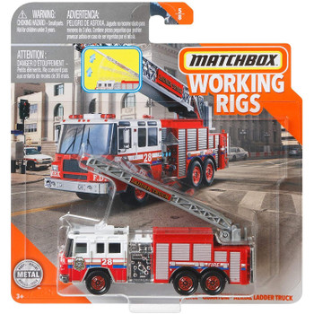 Matchbox Real Working Rigs - Pierce Quantum Aerial Ladder Fire Truck in packaging.