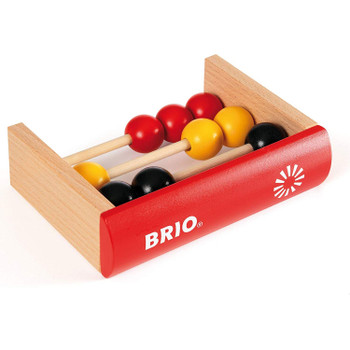 BRIO's Counting Book is a clean and simple wooden bead abacus in the form of a hardback book.