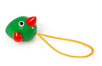 A perfect toy for the youngest mind. With the colourful green & red pull-along design, the Birdie is perfect for play at the table or on the ground. Pull the string and see how the Birdie's wings spin to keep up with the pace.