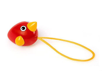 A perfect toy for the youngest mind. With the colourful red & yellow pull-along design, the Birdie is perfect for play at the table or on the ground. Pull the string and see how the Birdie's wings spin to keep up with the pace.