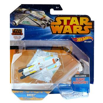 Hot Wheels Star Wars GHOST Die-cast Starship Vehicle in packaging.