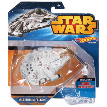 Hot Wheels Star Wars MILLENNIUM FALCON Die-cast Starship Vehicle in packaging.