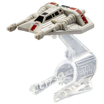 A favourite Star Wars starship re-created as a Hot Wheels miniature. The Rebel Snowspeeder measures around 5.5 cm (2.25 inches) in length and comes with Flight Navigator display stand.