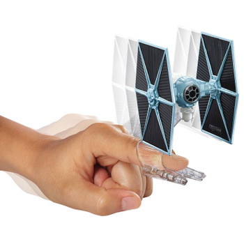 The TIE Fighter starship measures around 7.5 cm (2.5 inches) in length and comes with Flight Navigator display stand.