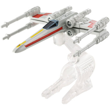 A favourite Star Wars starship re-created as a Hot Wheels miniature. The X-Wing Fighter (Red 3) starship measures around 7.5 cm (3 inches) in length and comes with Flight Navigator display stand.