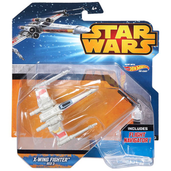 Hot Wheels Star Wars X-WING FIGHTER (Red 3) Die-cast Starship Vehicle in packaging.